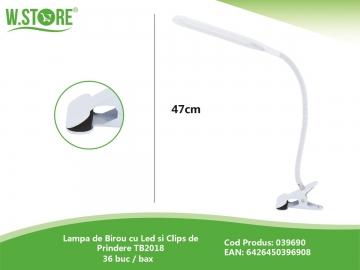 Lampa de Birou cu Led si Clips de Prindere TB2018 039690