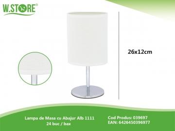 Lampa de Masa cu Abajur Alb 1111 039697