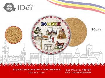 Suport Ceramica pentru Pahar Romania 040588
