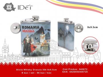 Sticla Whisky Dracula 304 9x9.5cm 040672