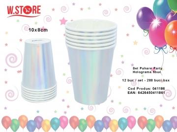 Set Pahare Party Holograma 6buc 041186