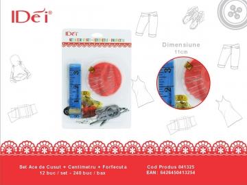 Set Ace de Cusut + Centimetru + Forfecuta 041325
