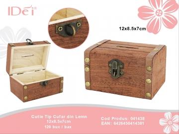 Cutie Tip Cufar din Lemn 12x8.5x7cm 041438