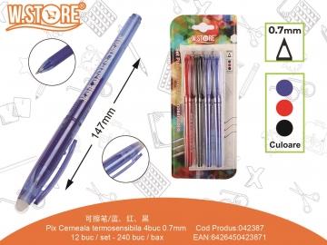 Set Pixuri cu Cerneala Termosensibila 0.7mm PE171 4buc 042387