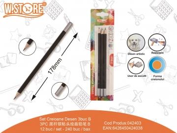 Set Creioane Desen B 3buc 042403
