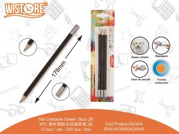 Set Creioane Desen 2B 3buc 042404