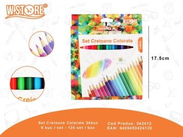 Set Creioane Colorate 24buc 042412