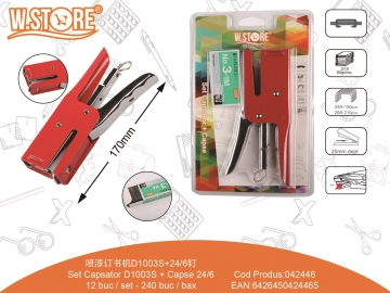 Set Capsator D1003S + Capse 24/6 042446