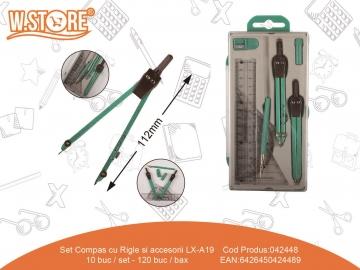 Set Compas cu Rigle si accesorii LX-A19 042448