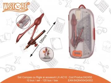 Set Compas cu Rigle si accesorii LX-AC10 042450