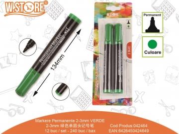 Set Markere Permanente 2-3mm 2buc Verde 042464