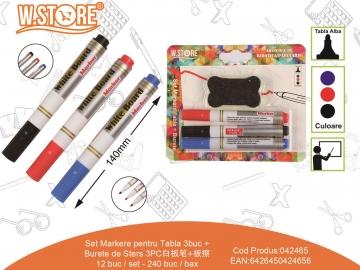 Set Markere pentru Tabla 3buc + Burete de Sters 042465