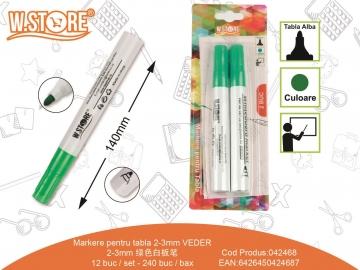 Set Markere pentru Tabla Alba 2buc Verde 042468
