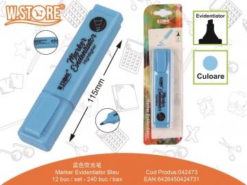 Marker Evidentiator Bleu 042473