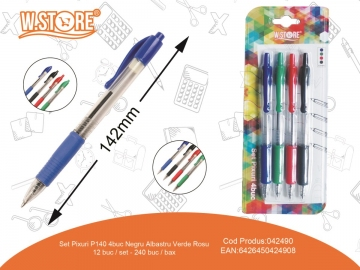 Set Pixuri P140 4buc 4Culori 042490