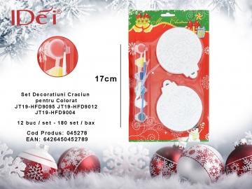 Set Decoratiuni Craciun pentru Colorat JT19-HFD9095 JT19-HFD9012 JT19-HFD9004 045278