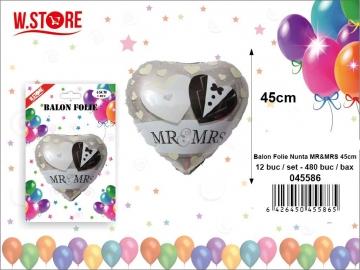 Balon Folie Nunta MR&MRS 45cm 045586