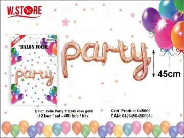 Balon Folie Party 110x45 rose gold 045609
