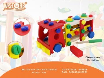 Set Jucarie din Lemn Camion 045638