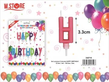 Set Lumanari Colorate Happy Birthday 045719