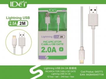 Incarcator Cablu de Date Lightning 2m 2.0A 045773