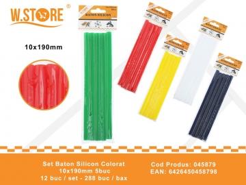 Set Baton Silicon Colorat 10x190mm 5buc 045879