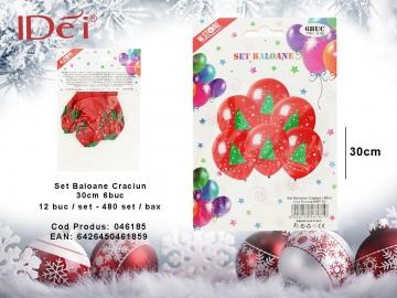 Set Baloane Craciun 30cm 6buc 046185
