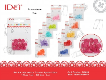 Set Marcaje pentru Tricotat Agrafe 12buc 046606
