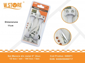 "Set Manere din metal 5"" 2buc 046671"