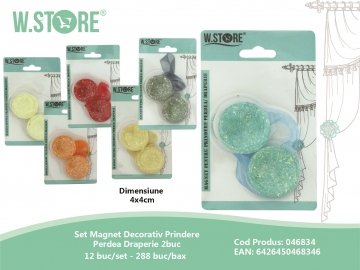 Set Magnet Decorativ Prindere Perdea Draperie 2buc 046834
