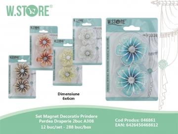 Set Magnet Decorativ Prindere Perdea Draperie 2buc A308 046861