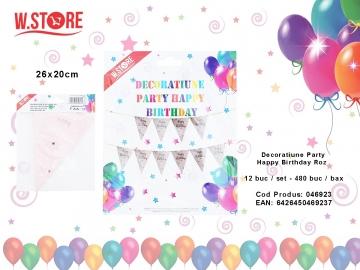 Decoratiune Party Happy Birthday Roz 046923