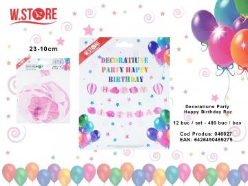 Decoratiune Party Happy Birthday Roz 046927