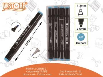 Marker 2 Capete Culoare 63 047103
