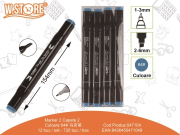 Marker 2 Capete Culoare 64 047104