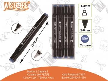 Marker 2 Capete Culoare 69 047107