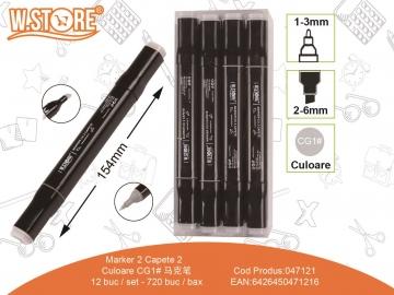 Marker 2 Capete Culoare CG1 047121