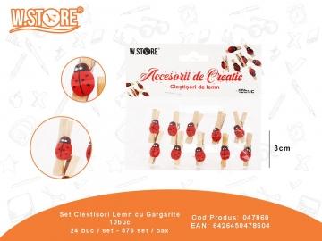Set Clestisori Lemn cu Gargarite 10buc 047860
