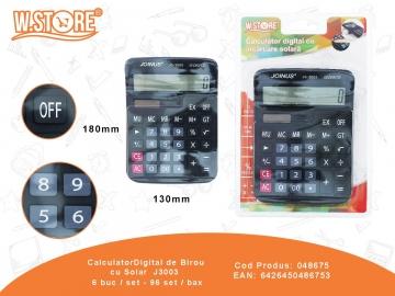 Calculator cu Solar Digital de Birou J3003 048675