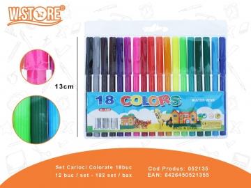Set Carioci Colorate 18buc 052135