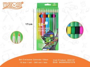 Set Creioane Colorate 12buc 052137