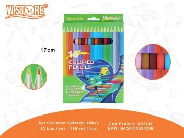 Set Creioane Colorate 18buc 052138