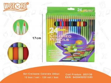 Set Creioane Colorate 24buc 052139