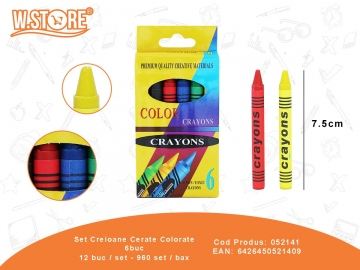 Set Creioane Cerate Colorate 6buc 052141