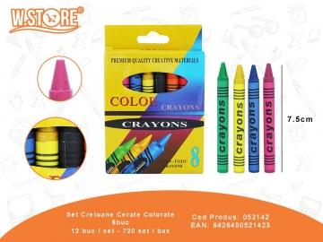 Set Creioane Cerate Colorate 8buc 052142