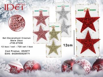 Set Decoratiuni Craciun Stele 2buc JT20-27238  052977