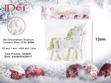 Set Decoratiuni Craciun Unicorn 2buc JT20-W088 052991