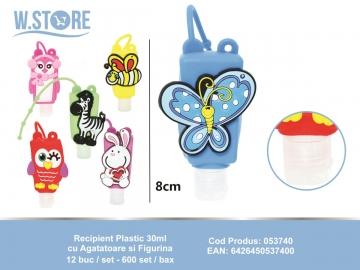 Recipient Plastic 30ml cu Agatatoare si Figurina 053740