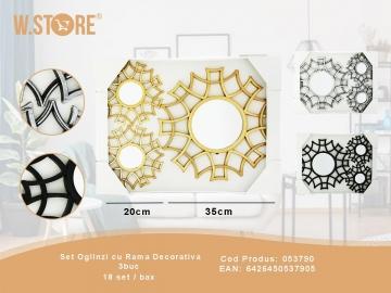 Set Oglinzi cu Rama Decorativa 3buc 053790
