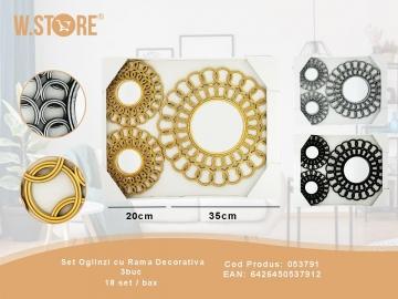 Set Oglinzi cu Rama Decorativa 3buc 053791